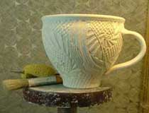 Cup during etching process