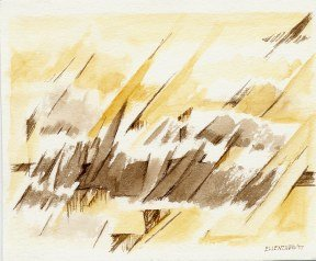 """Untitled I (2007) Watercolor/Ink 6 1/4"""" x 5"""""""