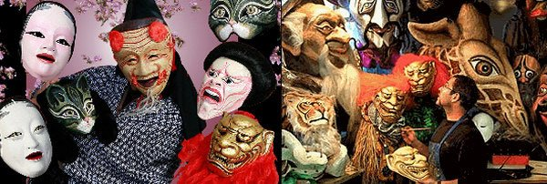 Masks by Eric Bornstein created for Behind The Mask Theatre's Cat Mountain