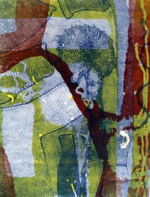 Jan Cadman Powell, Square the Circle, monoprint