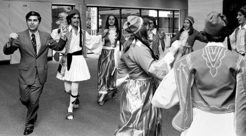 Ted Gartland, Dukakis Dancing at Logan