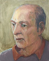Katha Seidman, Aging Dad (oil on panel)