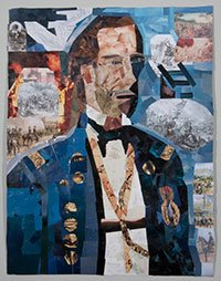 John M. Williams, The Face of Ambiguity, paper collage