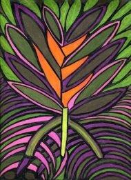 Janice Schupak Frishkopf, St. Lucian Flame, greeting card