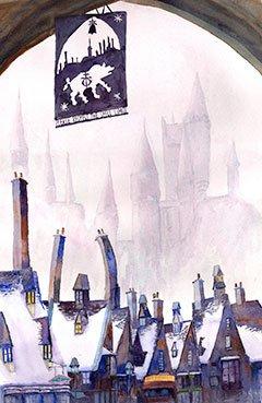Carole Slattery, Hogsmeade, watercolor