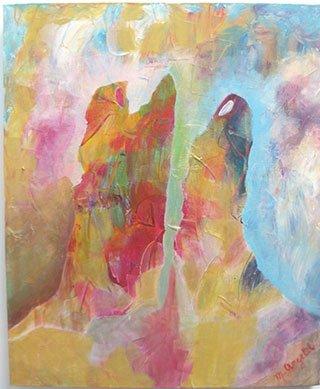 Muriel Angelil, Women Dancing, acrylic