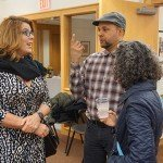 Guest Curator: Astrid Martinez-Jones talking with guests.