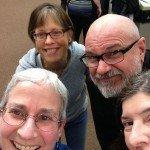 BGA selfie (top, clockwise): Viva Fisher, Richard Hill, Rebecca Richards, Anne Katzeff.
