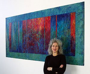 Janet Shapero in Studio, 2005