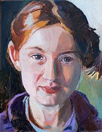 Ruth Scotch. Portrait of a Girl (oil)