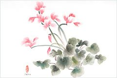 Vartus Varadian, Delicate Balance of Life, Chinese watercolor