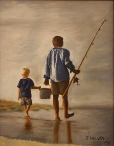 Ruth Vallon, Gone Fishing, oil
