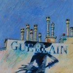 Christine Chang, Paris Chimneys Guerlain, acrylic on canvas